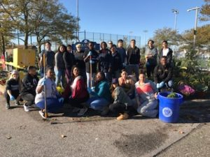 Wilson Tech Republic SkillsUSA members at Tanner Park cleanup
