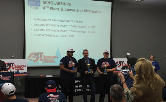Auto Tech students at Wilson Tech win 4th place at GNYADA